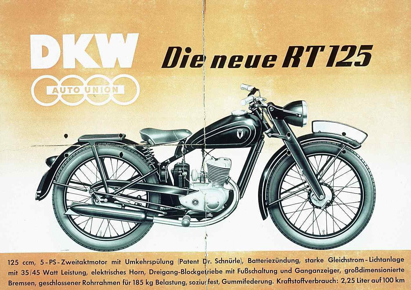 1944 dkw rt 125 museum exhibit. Black Bedroom Furniture Sets. Home Design Ideas
