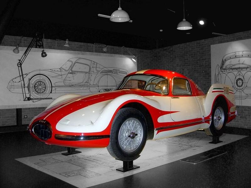 1954 Fiat Turbina Museum Exhibit 360carmuseum