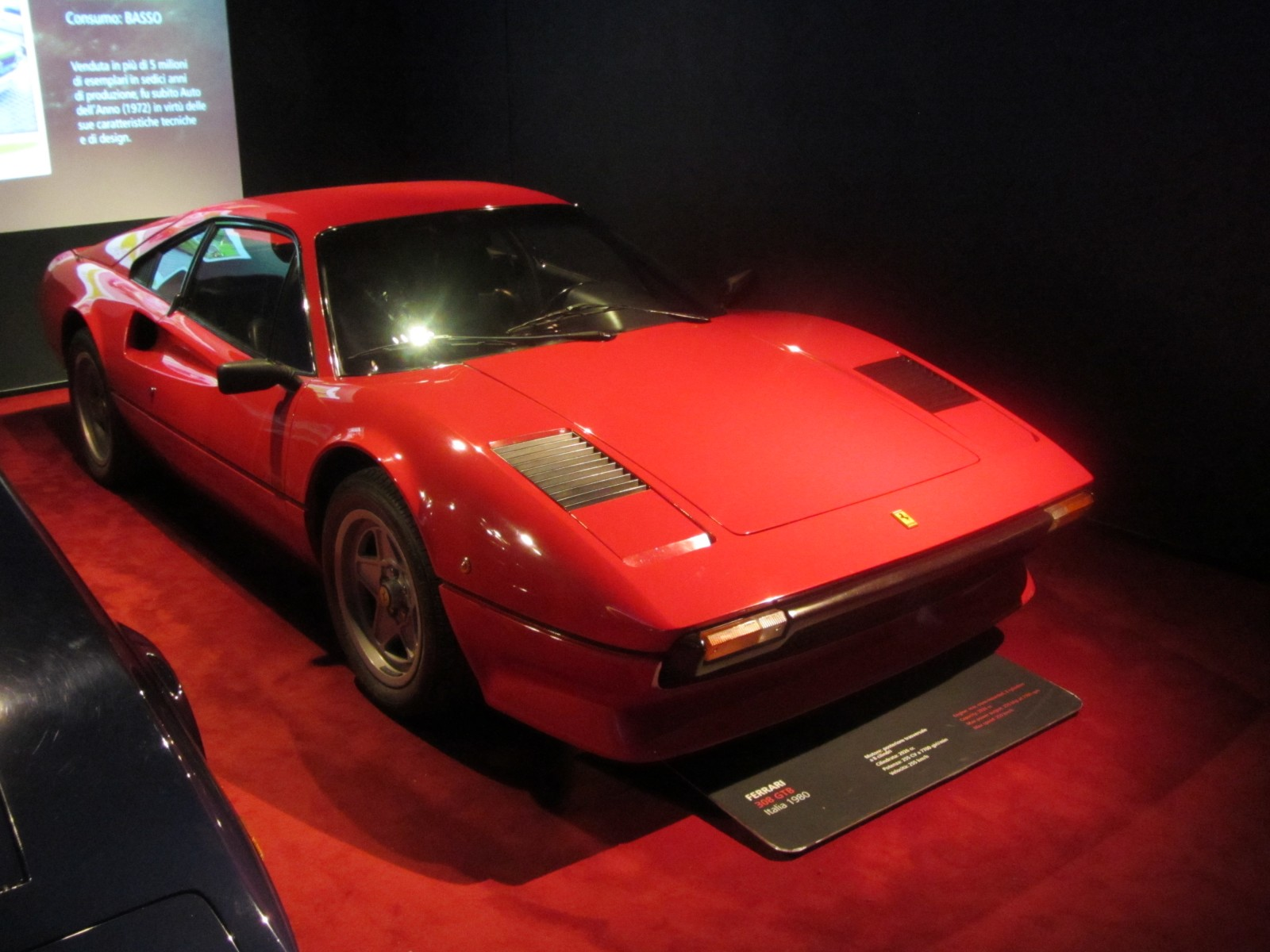 1980 ferrari 308 gtb museum exhibit. Black Bedroom Furniture Sets. Home Design Ideas